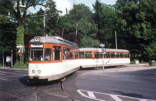 L-Wagen 217 an der Stadtgrenze Offenbach (Foto: S.Kyrieleis)