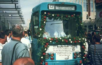 Eröffnungsfahrt an der Konstablerwache (Foto: S.Kyrieleis)
