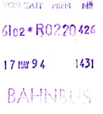Bahnbusfahrschein 1994 (Scan: S.Kyrieleis)