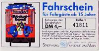 Fahrschein des Ebbelwei-Expreß (Scan: S.Kyrieleis)