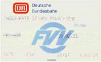 DB-Fahrkarte aus neuerem FVV-Automat (Scan: S.Kyrieleis)