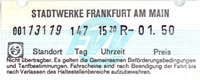Fahrschein aus FVV-Automat (Scan: S.Kyrieleis)