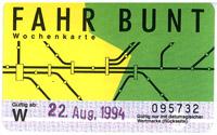 Fahrbunt Wochenkarte der DB (Scan: S.Kyrieleis)