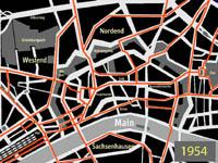 kleiner Netzplan, der das dichte Straßenbahnnetz im Frankfurter Innenstadtbereich zeigt