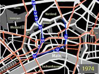 kleiner Plan des Innenstadtnetzes mit ersten Teilabschnitt der B-Strecke