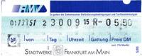 RMV-Fahrschein aus ehemaligen FVV-Automat (Scan: S.Kyrieleis)