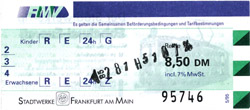 RMV-Tageskarte der Stadtwerke Frankfurt (Scan: S.Kyrieleis)