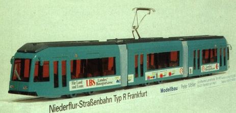 Kleinserienmodell (Messehandmuster) des R-Triebwagen (Foto: Sammlung W.Mönch).