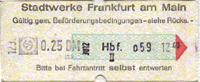 Fahrschein aus