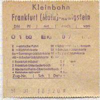 FKE Fahrschein von 1979 auf Kassenbon-Papier gedruckt (Scan: G.Wenzl)