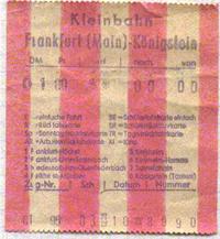 FKE-Fahrschein von 1979 auf rot/weiß-gestreiften Papier (vermutlich vom Rollenende)(Scan: G.Wenzl)