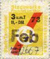 Schüler-Monatsmarke Februar 1973 für 3 und mehr Teilstrecken (Scan: G.Wenzl)