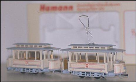 Modell eines Zuges aus A-Tw. und a-Bw. von Hamann (Foto: Markus Lennackers)