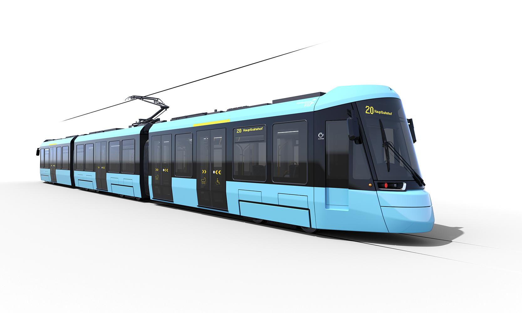 Grafische Darstellung des Wagentyps T der Frankfurter Straßenbahn
